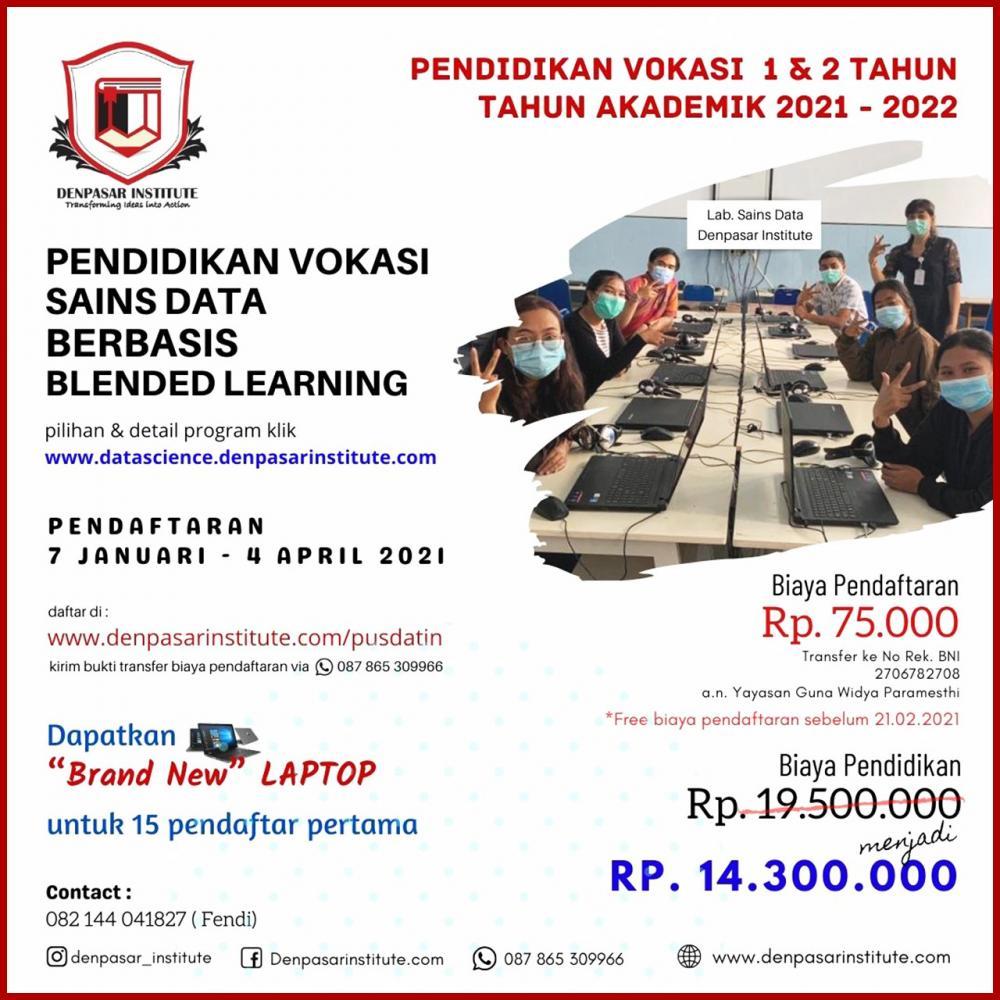 Pendidikan Vokasi bidang Sains Data. Satu-satunya di Bali dan Mahasiswa berasal dari Bali, NTB,  NTT dan Jawa Timur